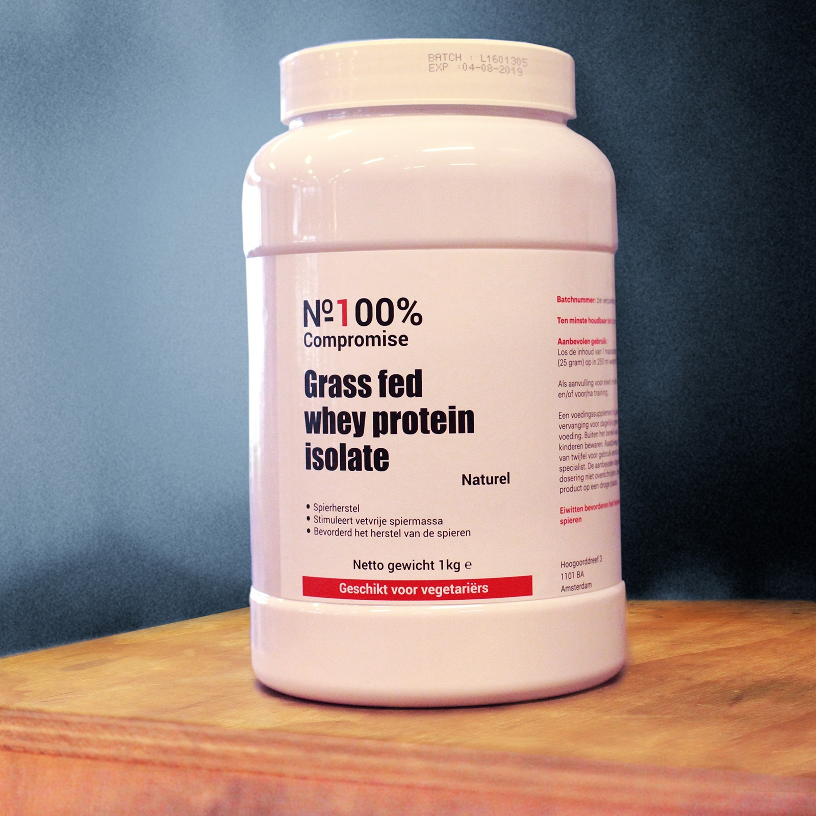 Organic whey protein isolate grass fed cows